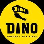 Dino Burger & Rice Steak Logo