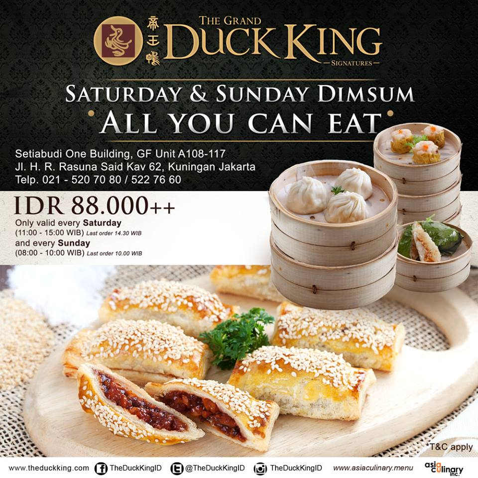 The Duck King All You Can Eat Dimsum Cuma 88,000++