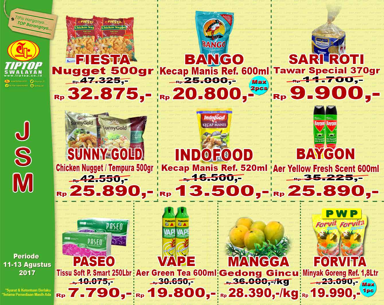 Katalog Tip Top Supermarket 11 Aug 13 Bango Kecap Manis 600ml