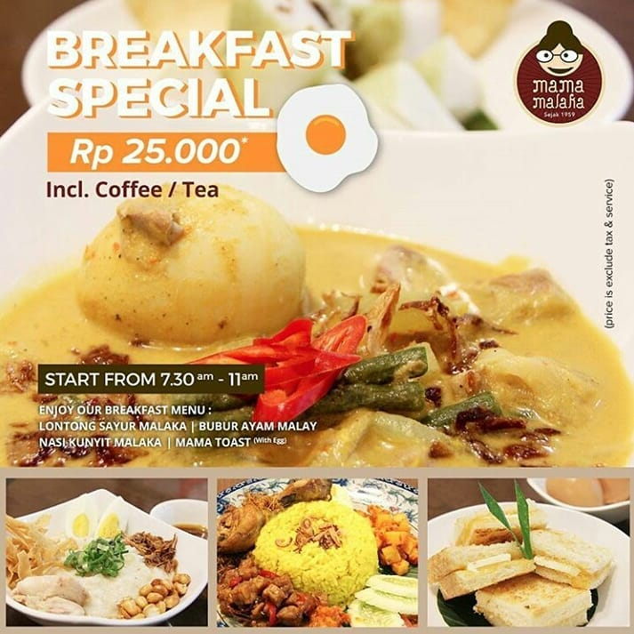 Breakfast Spesial 25.000 IDR
