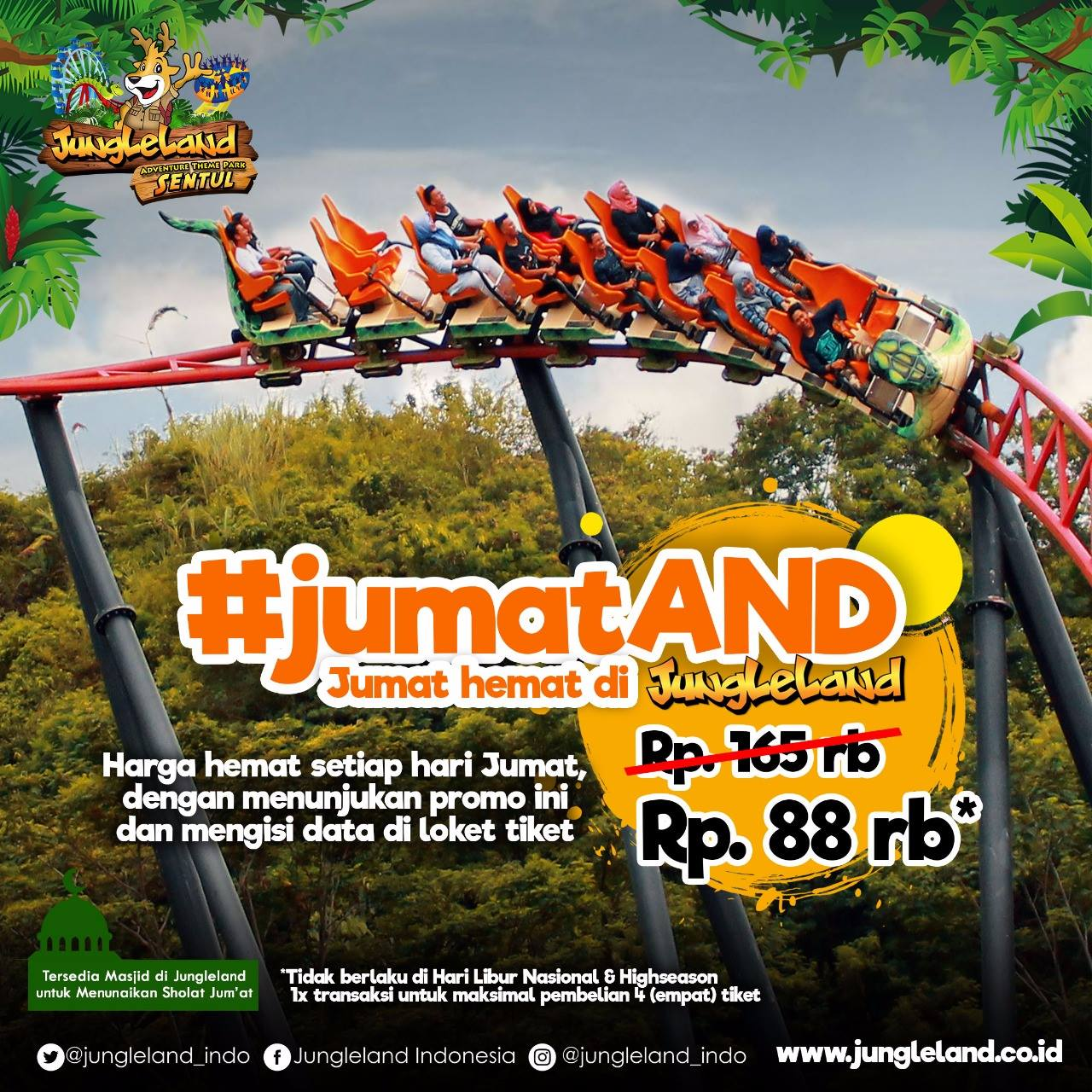 Jungle Land Adventure Theme Park Tiket Masuk Cuma Rp 88