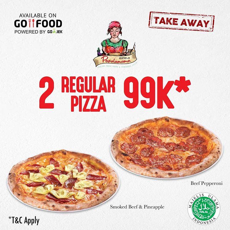 2 Regular Pizza 99K