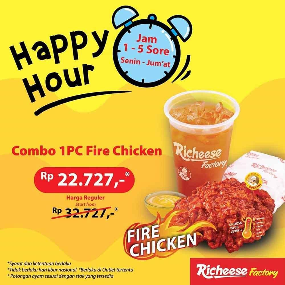 Richeese Factory Combo 1 Pc Fire Chicken Cuma Rp 22 727