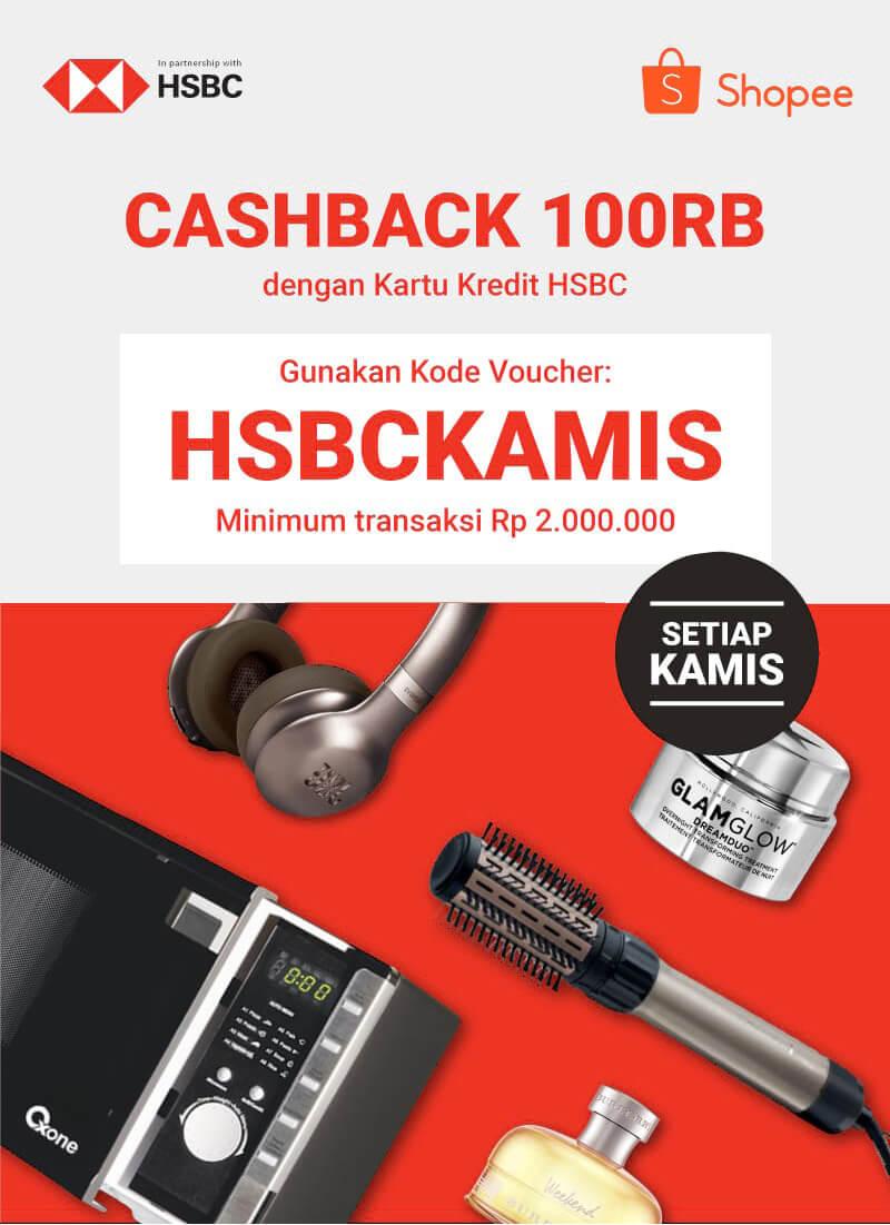 Cashback 100K tiap Kamis