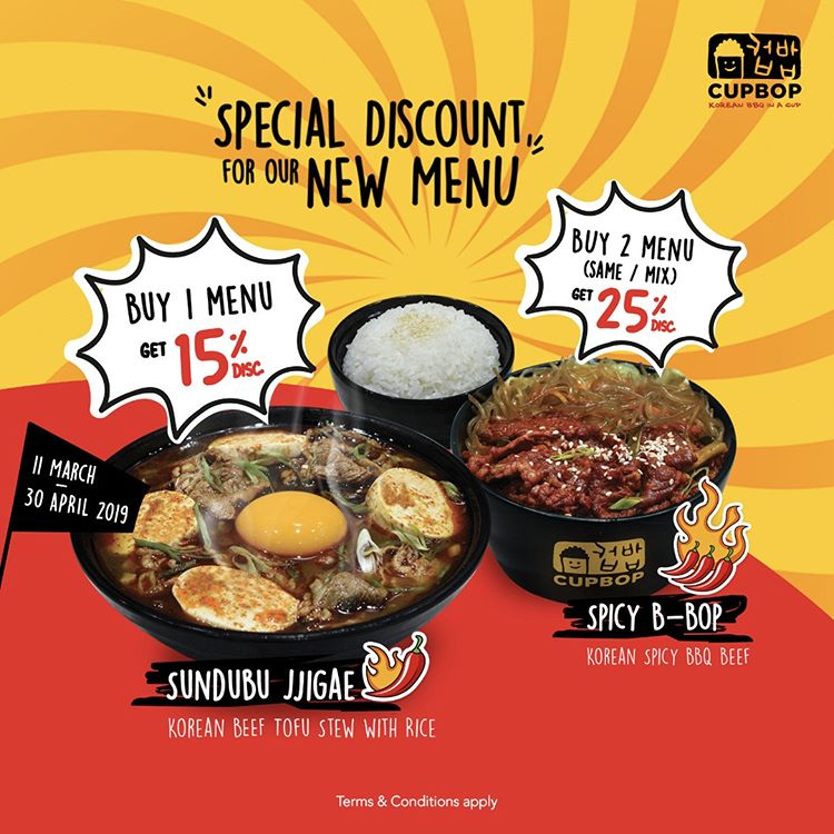 Special Discount for New Menu