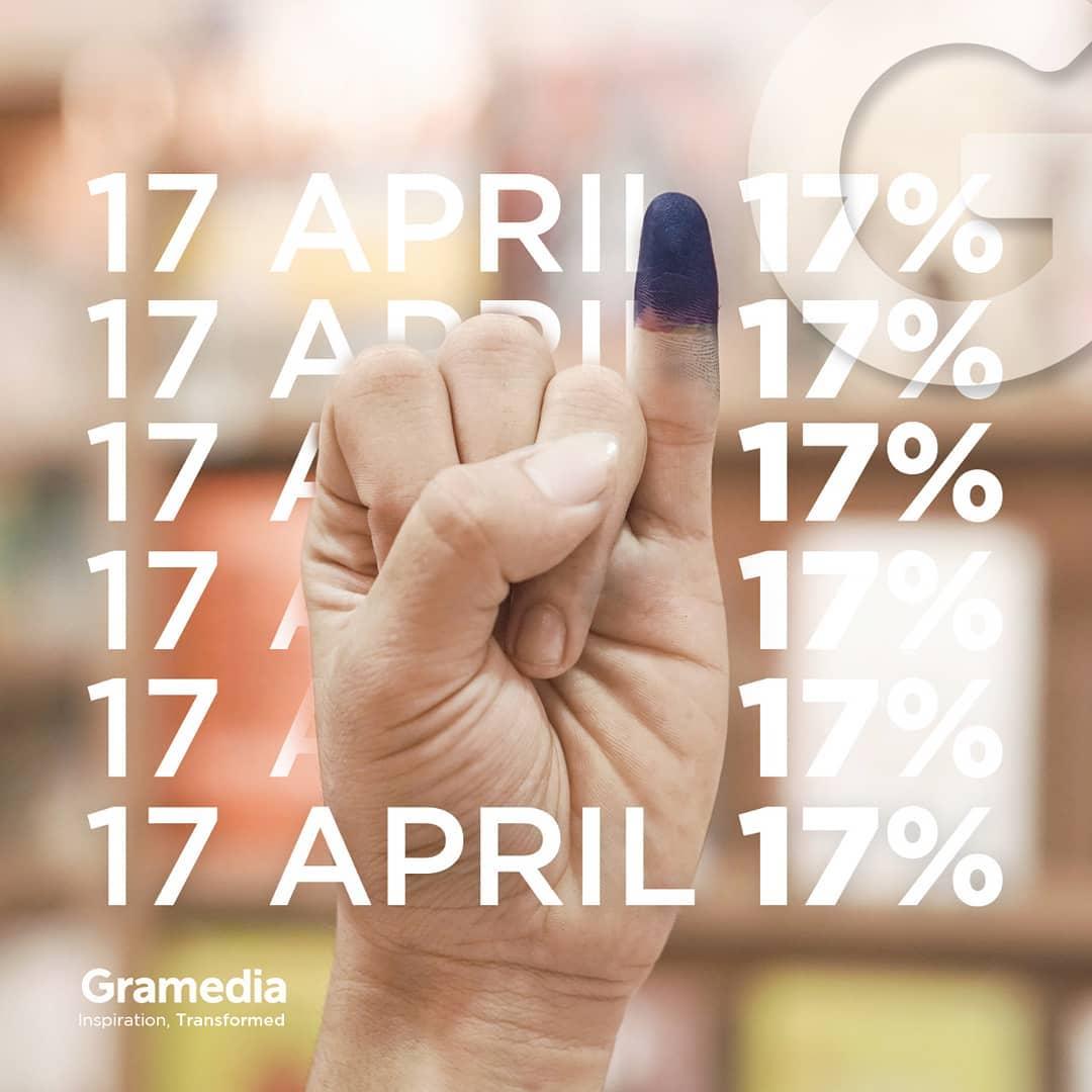 17% Off All Gramedia Books