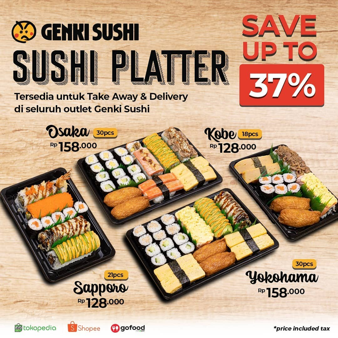 Sushi Platter Save Up To 37%!