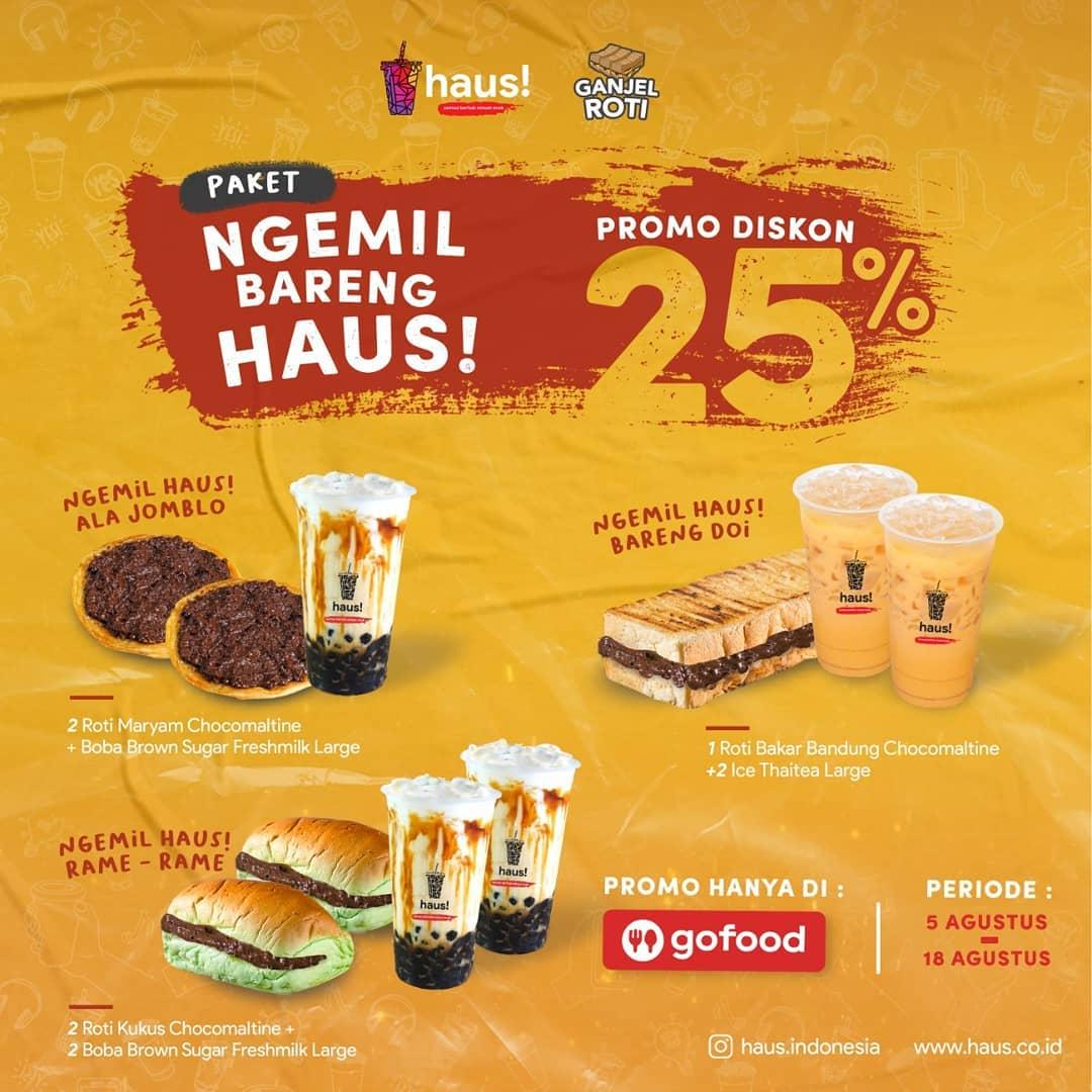 Paket Ngemil Bareng Haus! Promo Diskon 25%