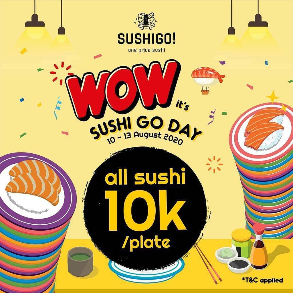 SUSHIGO DAY: All Sushi 10K/Plate!