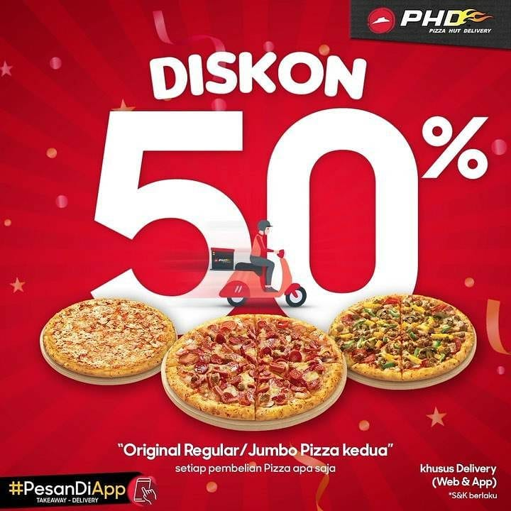 #PesanDiApp DISKON 50%!