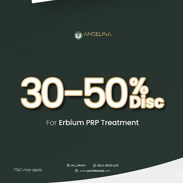 30-50% Off Erbium PRP treatment