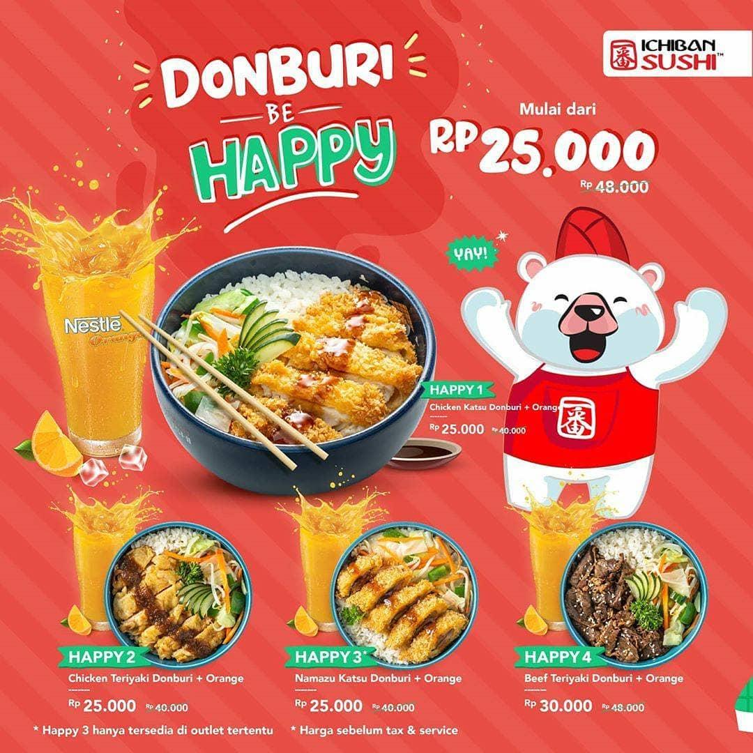 DONBURI BE HAPPY! Mulai dari Rp.25.000!