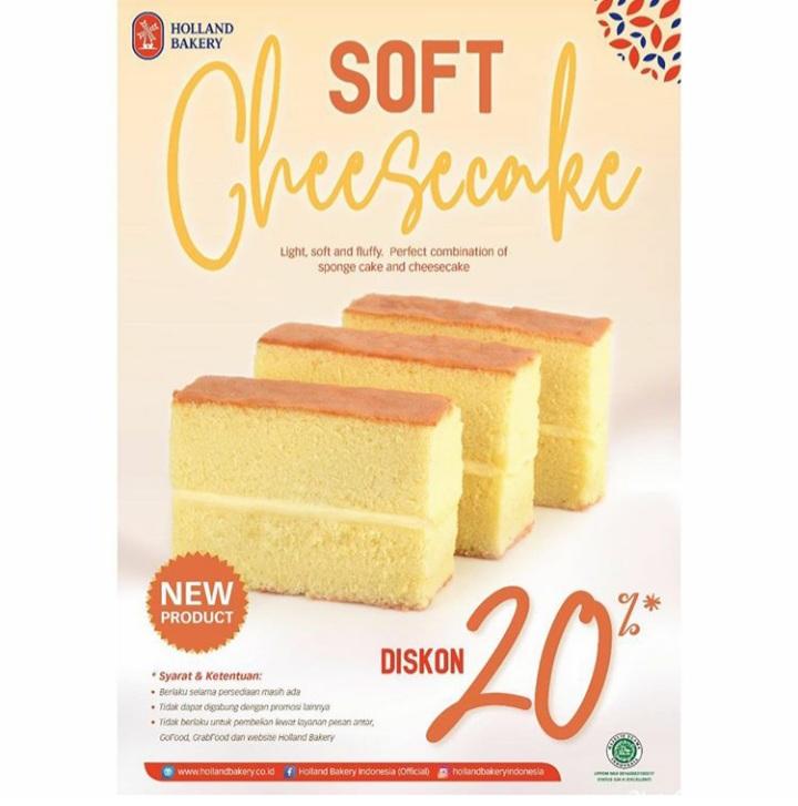 Soft Cheescake DISC 20% HOLLAND BAKERY