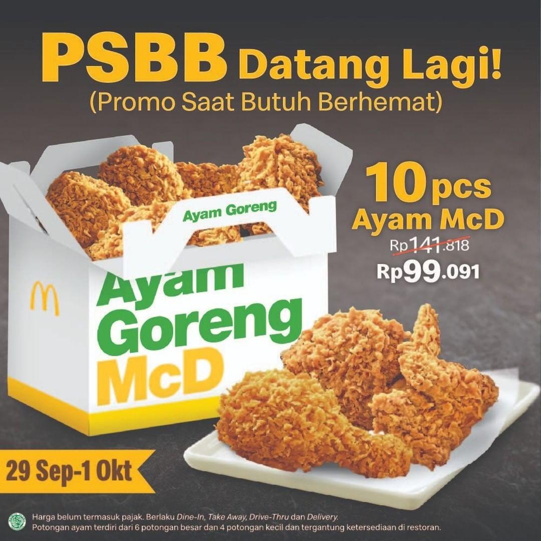 PSBB Datang Lagi! 10 Pcs Ayam Rp.99.091!