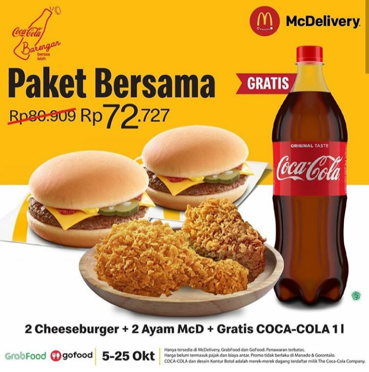 Paket Bersama McDelivery