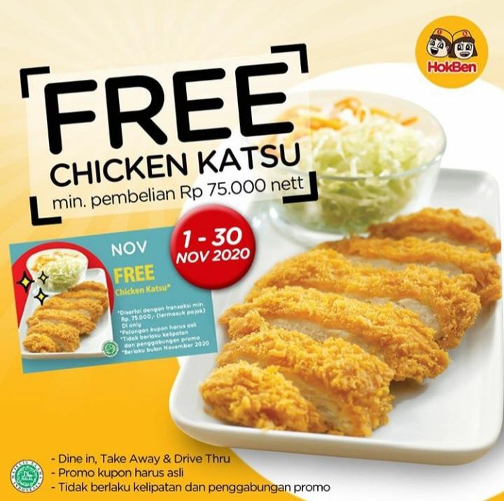 FREE Chicken Katsu HOKBEN