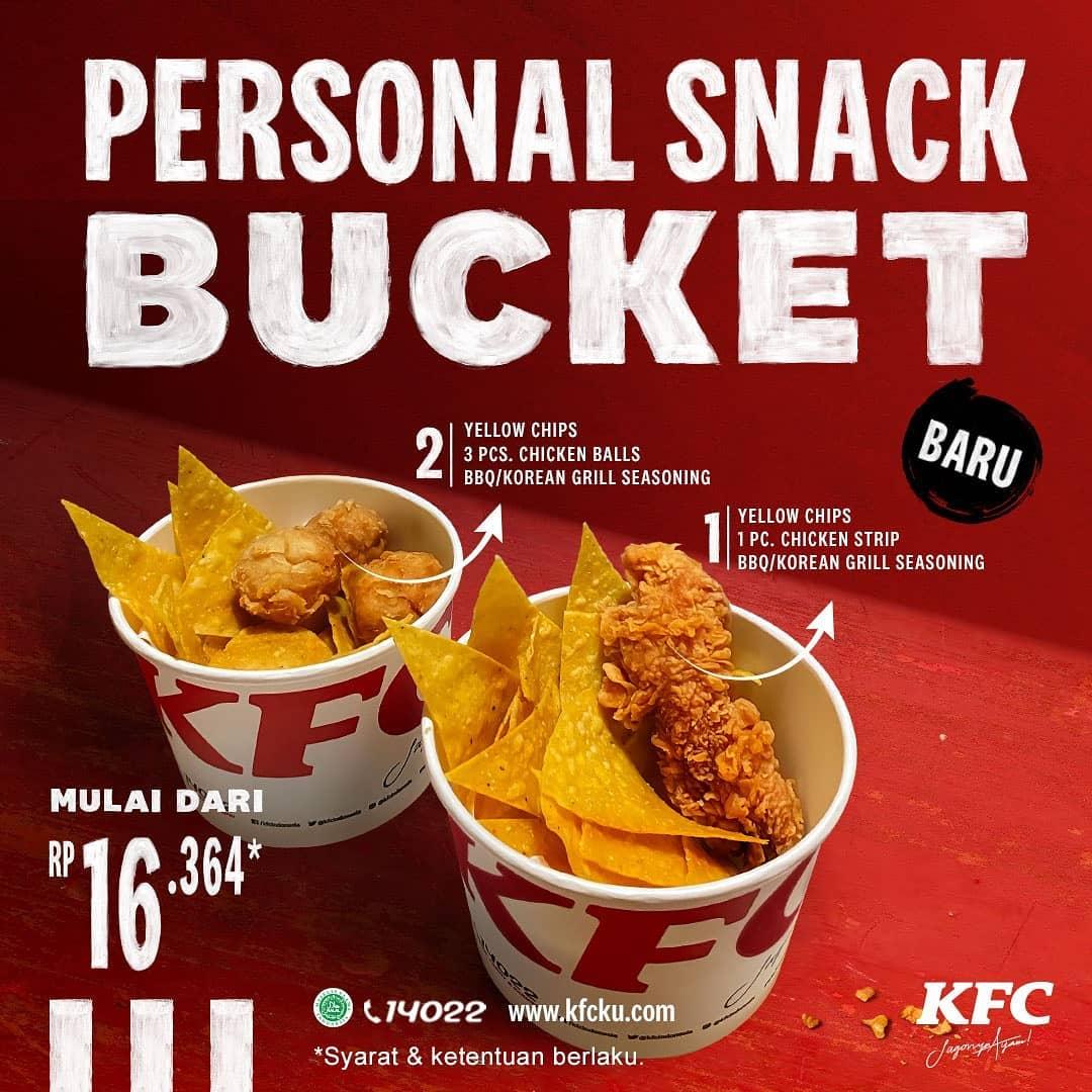 KFC PERSONAL SNACK BUCKET MULAI DARI Rp.16.364!