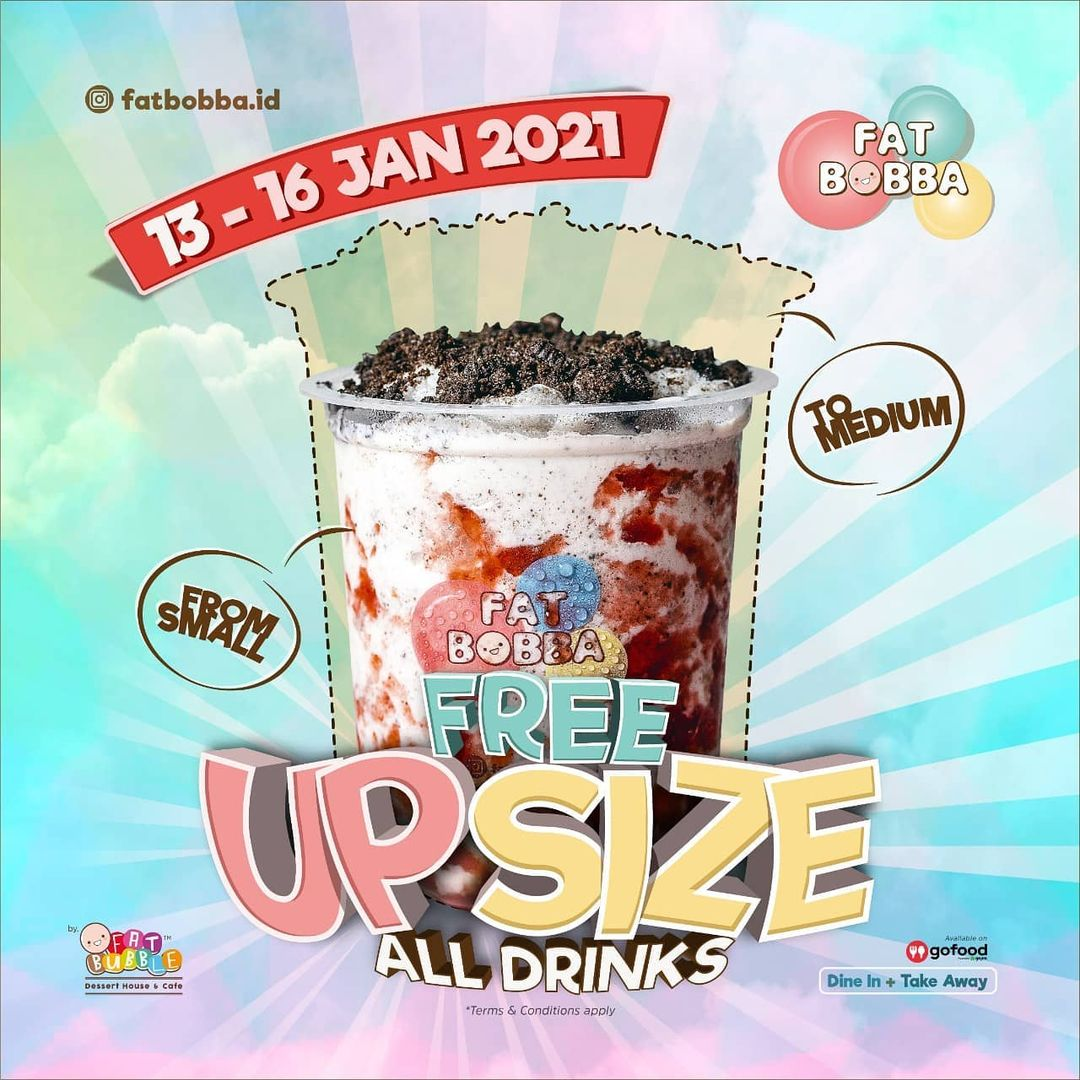 FREE UPSIZE ALL DRINKS!