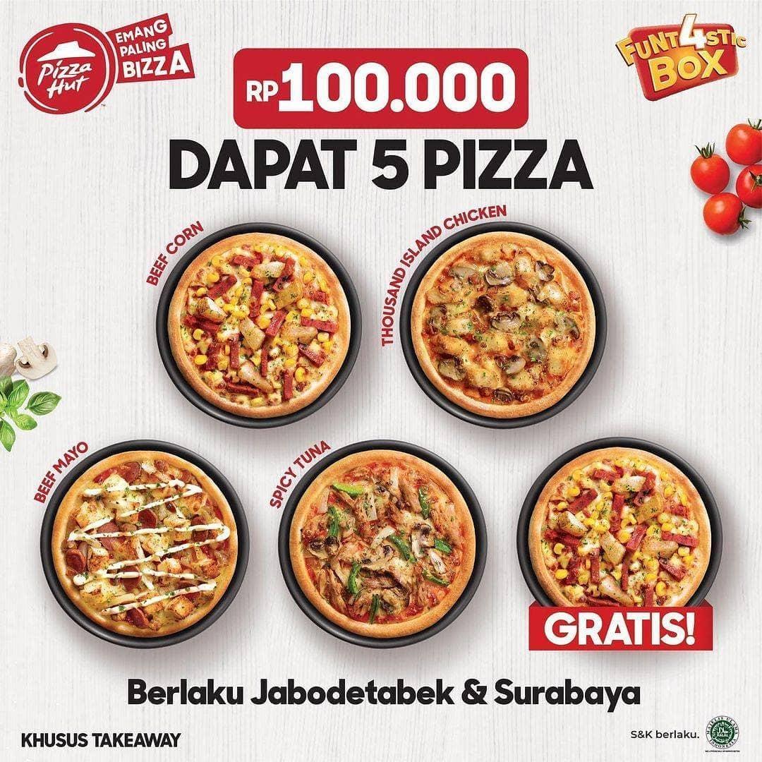 100.000 DAPAT 5 PIZZA!