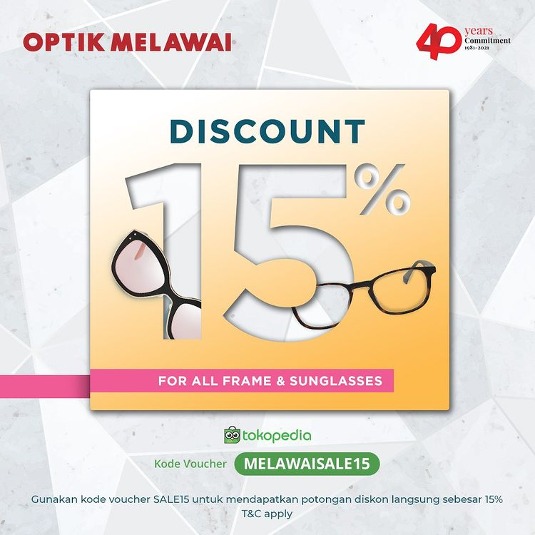 Discount 15 for All Frame & Sunglasses