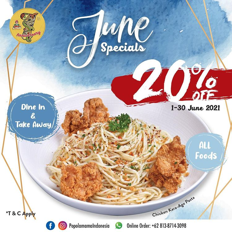 20% Off All Foods