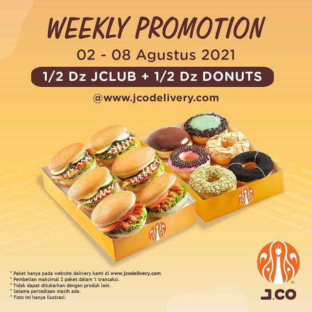 1/2 Lusin Donat JCO + 1/2 lusin JCLUB only 109K