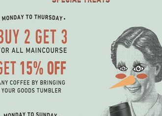 Buy 2 Get 3 All Maincourse & 15% Off