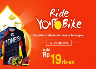 Promo Ride Your Bike Mulai Rp 19rb-an