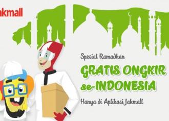Gratis Ongkir se-Indonesia via Aplikasi Jakmall