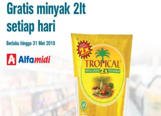 Gratis Minyak Goreng Tropical 2 Liter