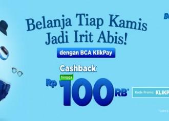 Cashback Hingga Rp 100,000