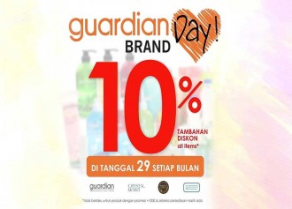 Guardian Day Brand 10% Tambahan Diskon