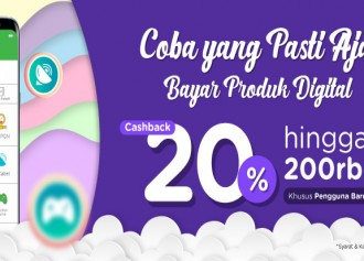 Cashback 20% Produk Digital