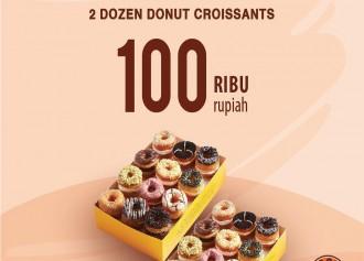 2 Lusin Donut Croissant CUMA Rp 100,000