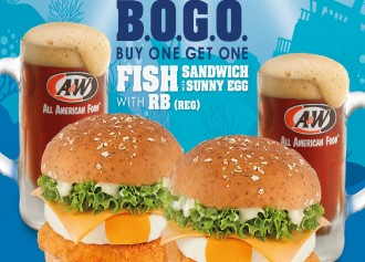Buy 1 Get 1 Fish Sandwich with Sunny Egg & RB