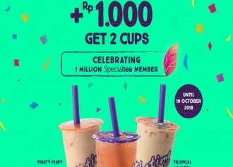 + Rp 1,000 Get 2 Cups