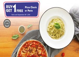 Buy 1 Get 1 Free Pizza Classic or Pasta