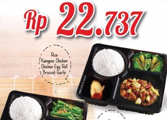 Ricebowl Box CUMA Rp 22,737/porsi
