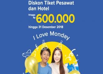 Diskon Tiket Pesawat dan Hotel Hingga Rp 600.000