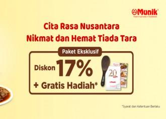 Diskon 17% + Gratis Hadiah