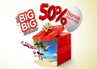 Bonus 50% AirAsia BIG Points dengan Reward BCA