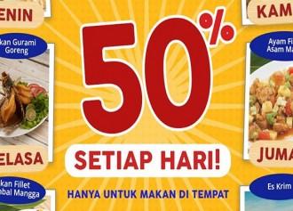 Promo Diskon 50% Setiap hari
