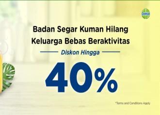 Diskon Hingga 40%