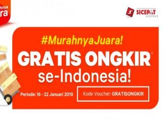 Promo Gratis Ongkir ke Seluruh Indonesia!