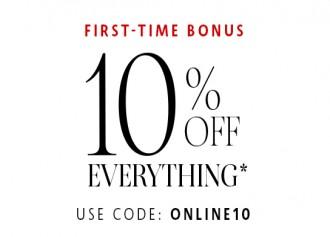 First Time Bonus, 10% Off