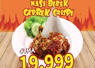 Nasi Bebek Geprek Crispy CUMA Rp 19,999