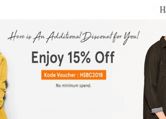 Enjoy 15% Off with HSBC