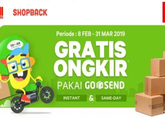 Promo Gratis Ongkir GO-SEND dengan Shopback!