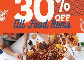 Happy Hour 30% Off All Foods