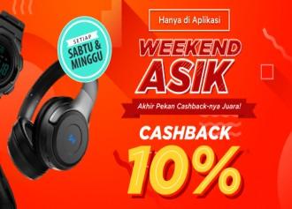 Cashback 10% Setiap Sabtu dan Minggu!